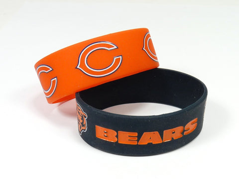 Chicago Bears Two Pack Wide Bracelets