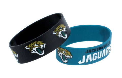 Jacksonville Jaguars Two Pack Wide Bracelets