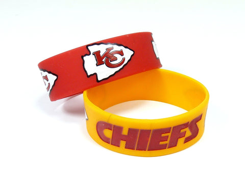 Kansas City Chiefs Two Pack Wide Bracelets