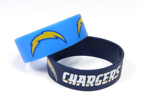 Los Angeles Chargers Two Pack Wide Bracelets