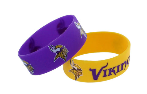Minnesota Vikings Two Pack Wide Bracelets