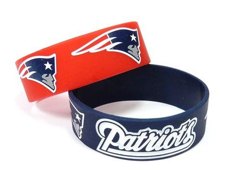 New England Patriots Two Pack Wide Bracelets