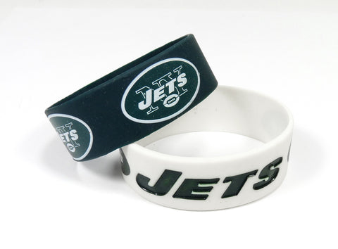 New York Jets Two Pack Wide Bracelets
