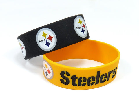 Pittsburgh Steelers Two Pack Wide Bracelets