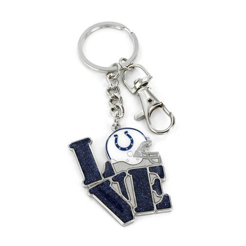 Indianapolis Colts Glitter Love Key Chain