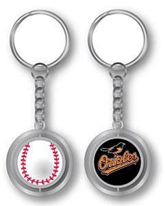 Baltimore Orioles Spinning Key Chain with 3D Ball