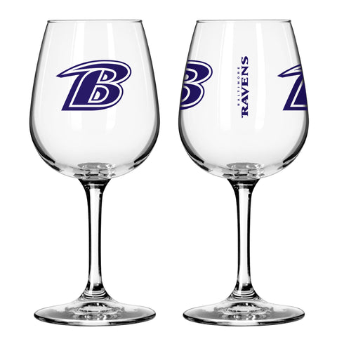 Baltimore Ravens 12oz. Gameday Wine Glass
