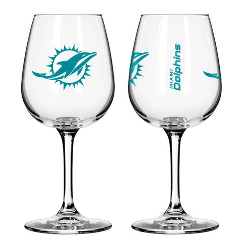Miami Dolphins 12oz. Gameday Wine Glass