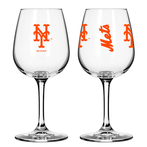 New York Mets 12oz. Gameday Wine Glass