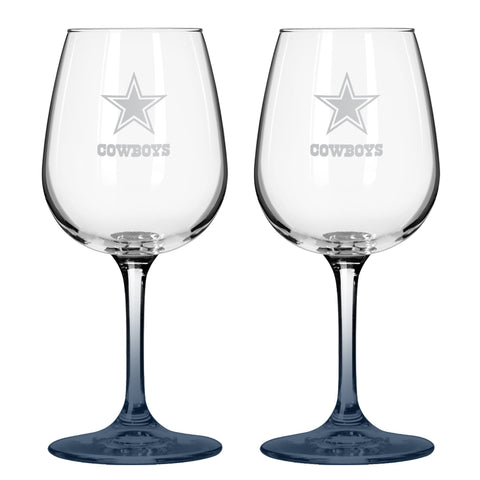 Dallas Cowboys 12oz. Color Stem Wine Glass