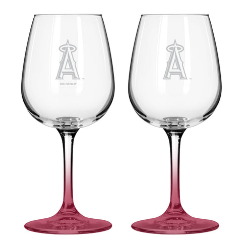 Los Angeles Angels 12oz. Color Stem Wine Glass