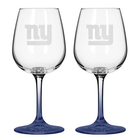 New York Giants 12oz. Color Stem Wine Glass