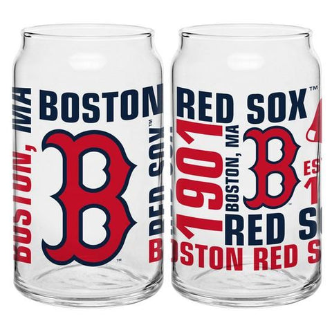 Boston Red Sox 16oz. Spirit Glass Can