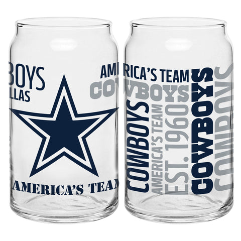 Dallas Cowboys 16oz. Spirit Glass Can