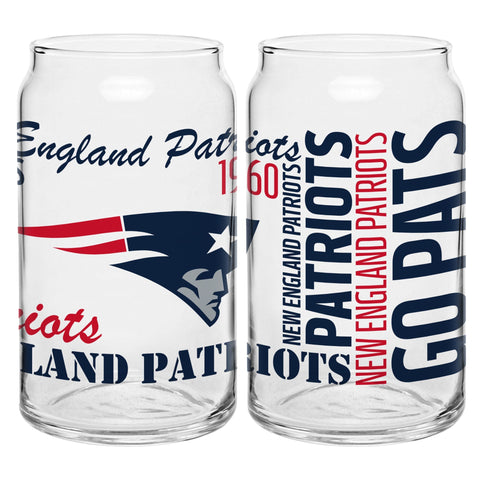 New England Patriots 16oz. Spirit Glass Can