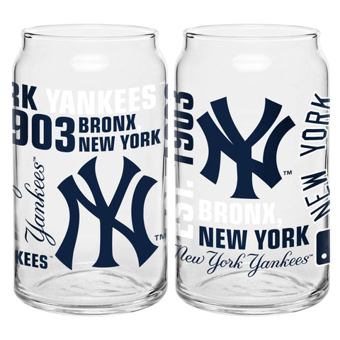 New York Yankees 16oz. Spirit Glass Can