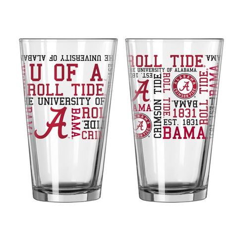 Alabama Crimson Tide 16oz. Spirit Pint Glass