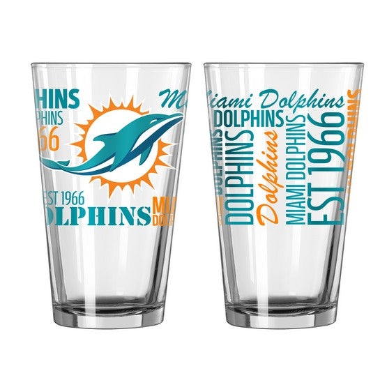 Miami Dolphins 16oz. Spirit Pint Glass