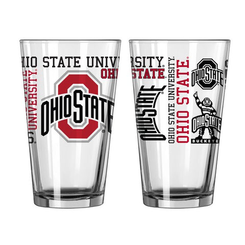 Ohio State Buckeyes 16oz. Spirit Pint Glass