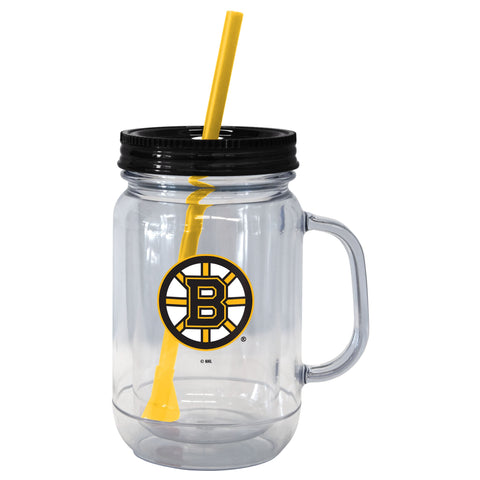Boston Bruins 20oz. Mason Straw Tumbler