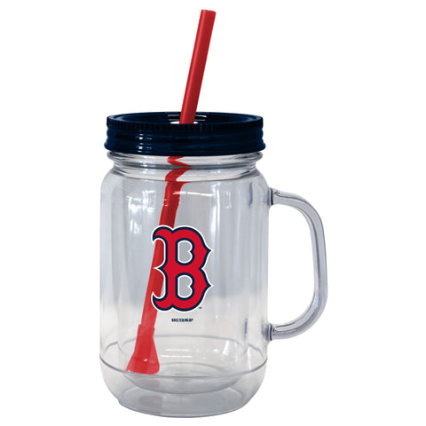 Boston Red Sox 20oz. Mason Straw Tumbler