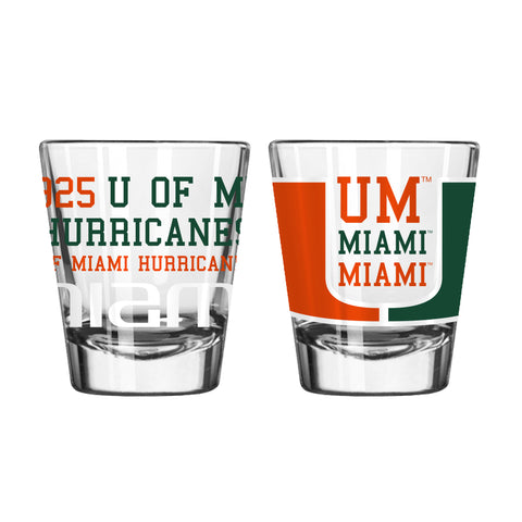 Miami Hurricanes 2oz. Spirit Shot Glass