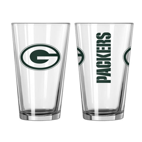 Green Bay Packers 2pc. Gameday Pint Glass Gift Set