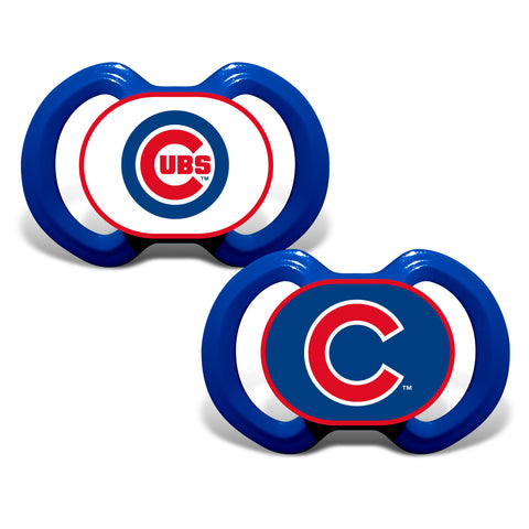 Chicago Cubs 2 Pack Baby Pacifiers