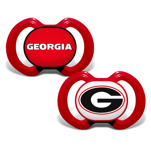 Georgia Bulldogs 2 Pack Baby Pacifiers