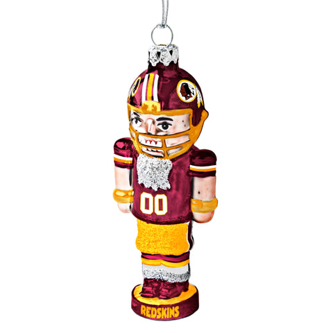 Washington Redskins Glass Nutcracker Ornament
