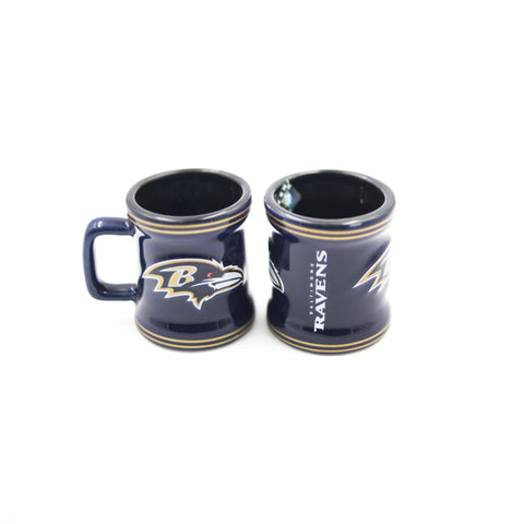 Baltimore Ravens Stripe Mini Mug Shot Glass