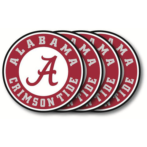 Alabama Crimson Tide 4 Pack Vinyl Coasters