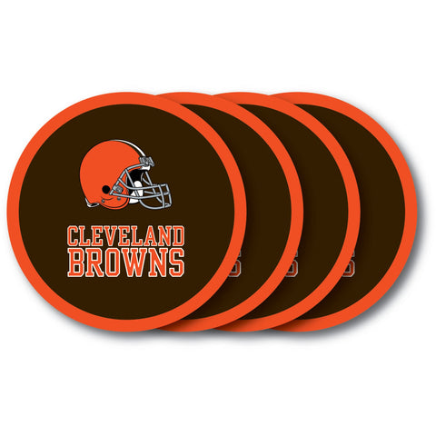 Cleveland Browns 4 Pack Vinyl Coasters