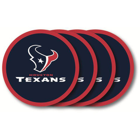 Houston Texans 4 Pack Vinyl Coasters