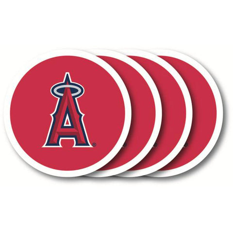 Los Angeles Angels 4 Pack Vinyl Coasters