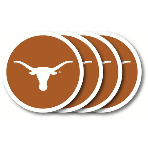 Texas Longhorns 4 Pack Vinyl Coasters