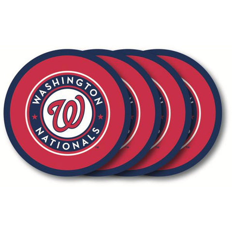 Washington Nationals 4 Pack Vinyl Coasters