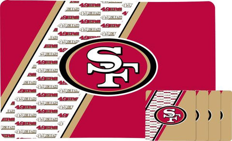 San Francisco 49ers Placemat & Coaster Set