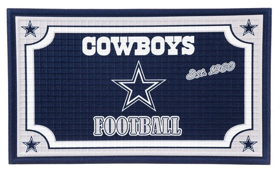 Dallas Cowboys Embossed Door Mat