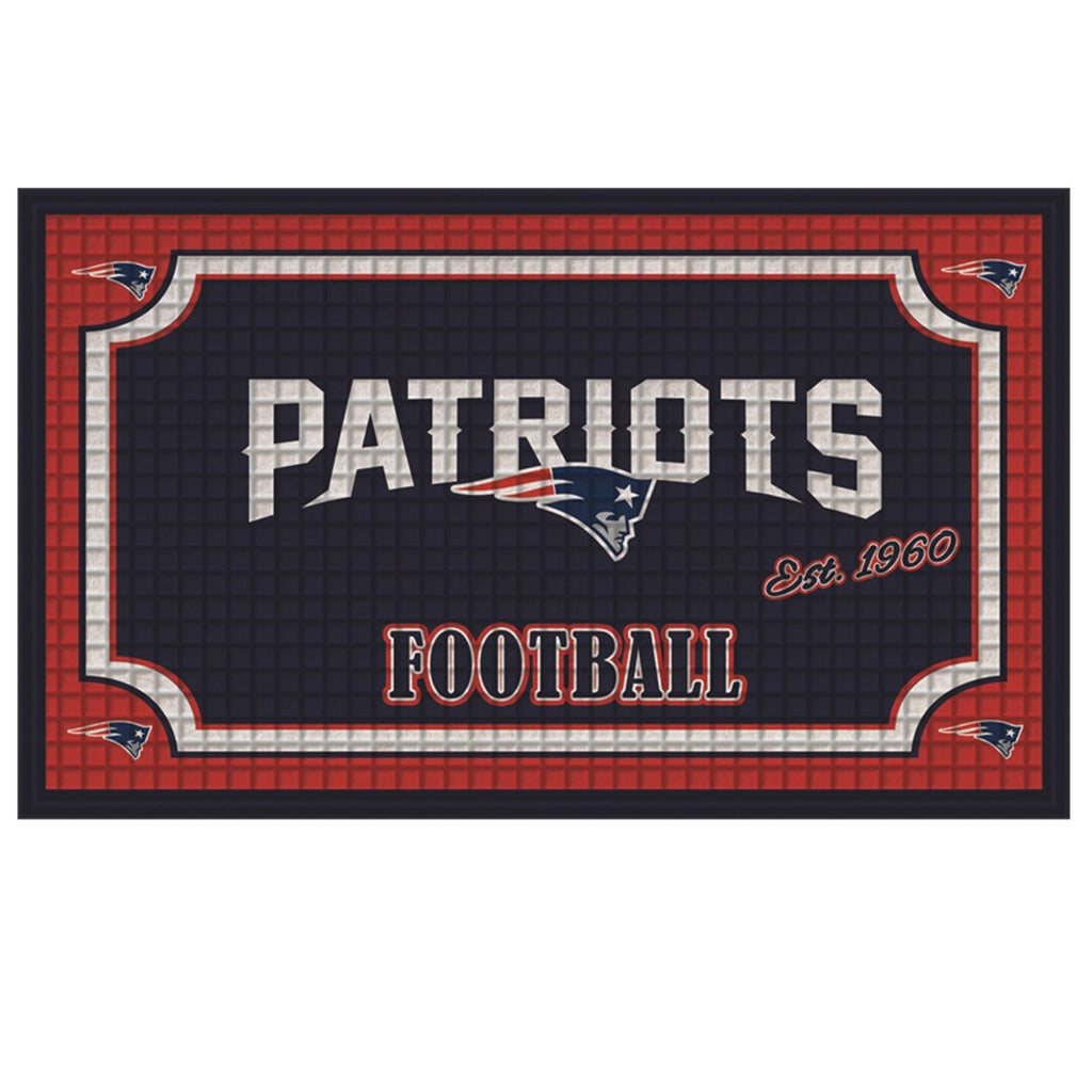 New England Patriots Embossed Door Mat