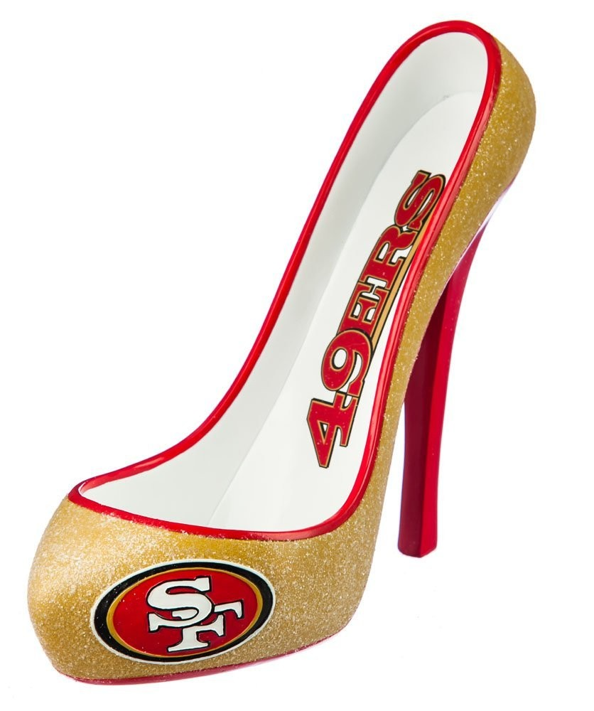 San Francisco 49ers Glitter Shoe Wine Bottle Holder