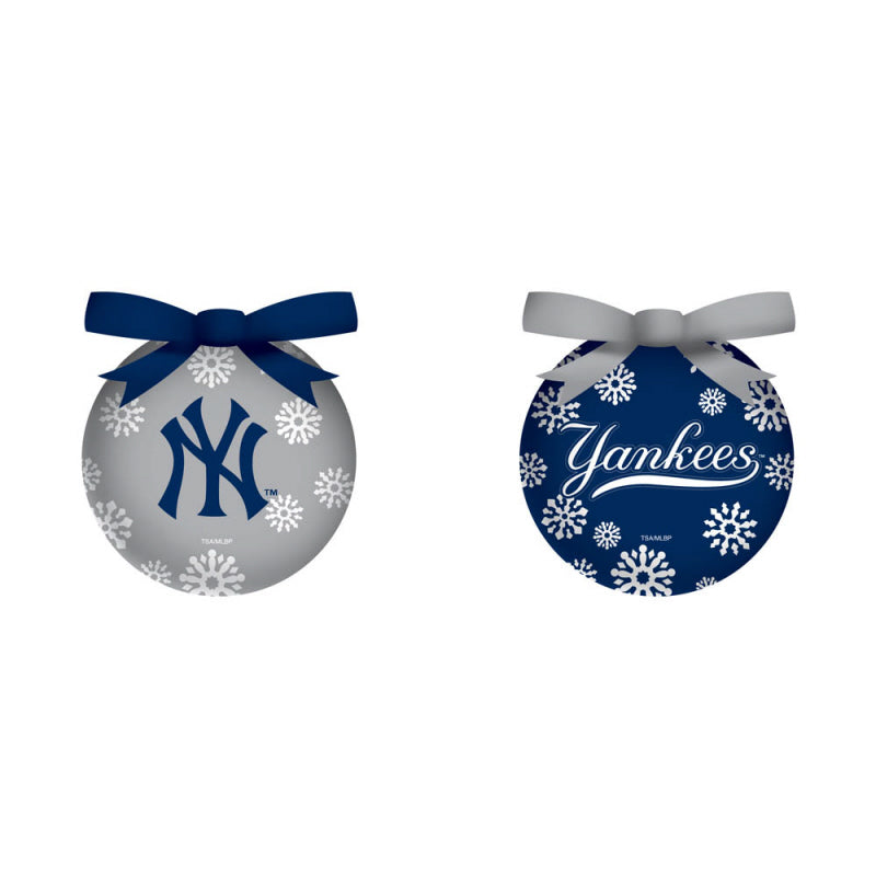 New York Yankees LED Light Up Christmas Ornaments - Set of 6