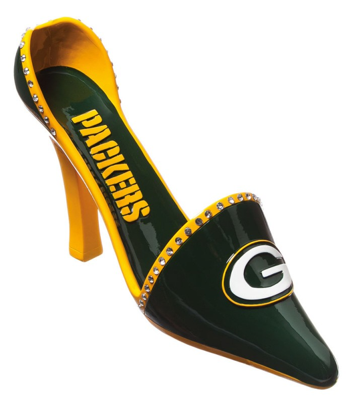 Green Bay Packers Shoe Wine Bottle Holder