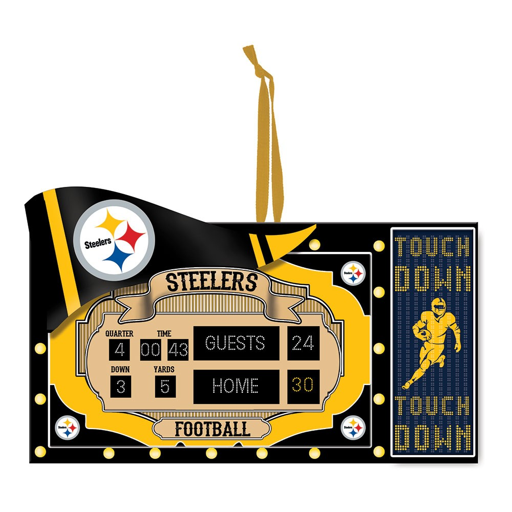 Pittsburgh Steelers Scoreboard Ornament