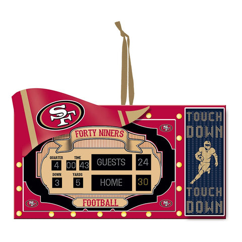 San Francisco 49ers Scoreboard Ornament