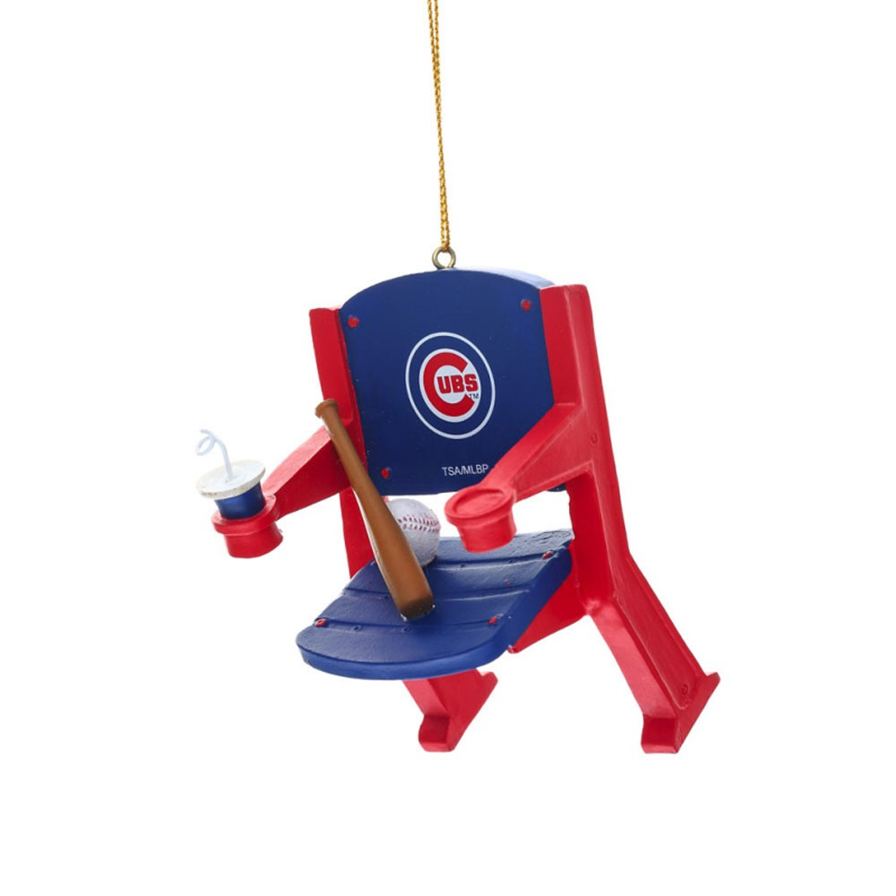 Chicago Cubs Stadium Chair Ornament
