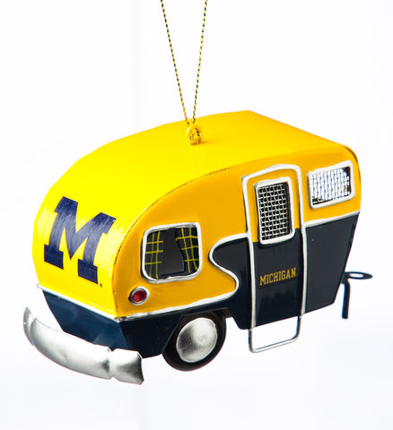 Michigan Wolverines Team Camper Ornament