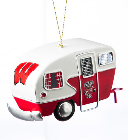 Wisconsin Badgers Team Camper Ornament