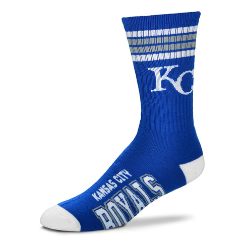 Kansas City Royals 4 Stripe Deuce Socks - Large