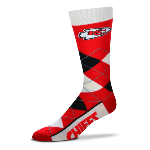 Kansas City Chiefs Argyle Lineup Socks